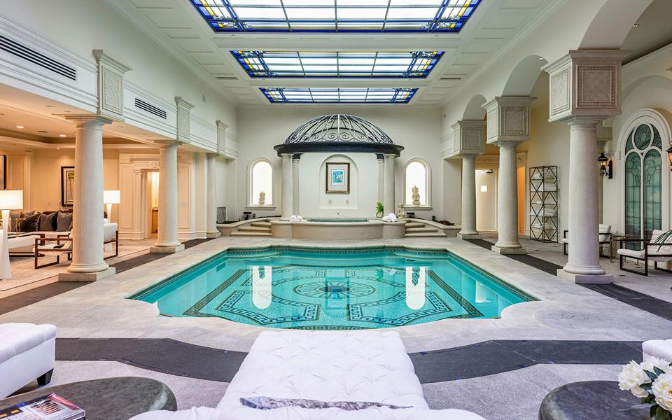 luxury mansion indoor pool at 277 st pierre rd bel air los angeles