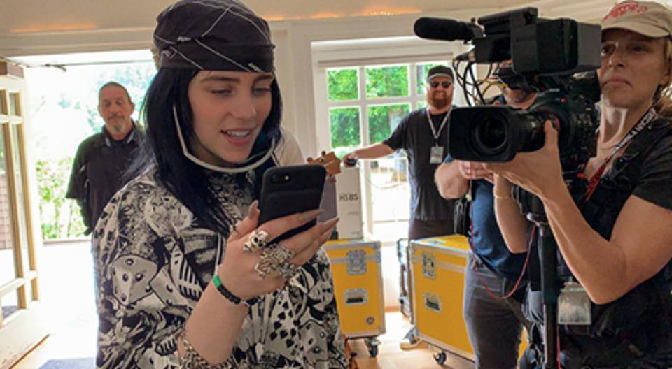 Shooting of the film 'Billie Eilish: The World's A Little Blurry'