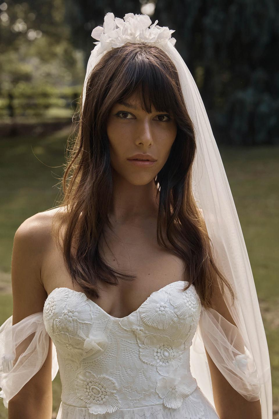 The Monet veil by Grace Loves from their 2021 Mainline collection, Elysian.