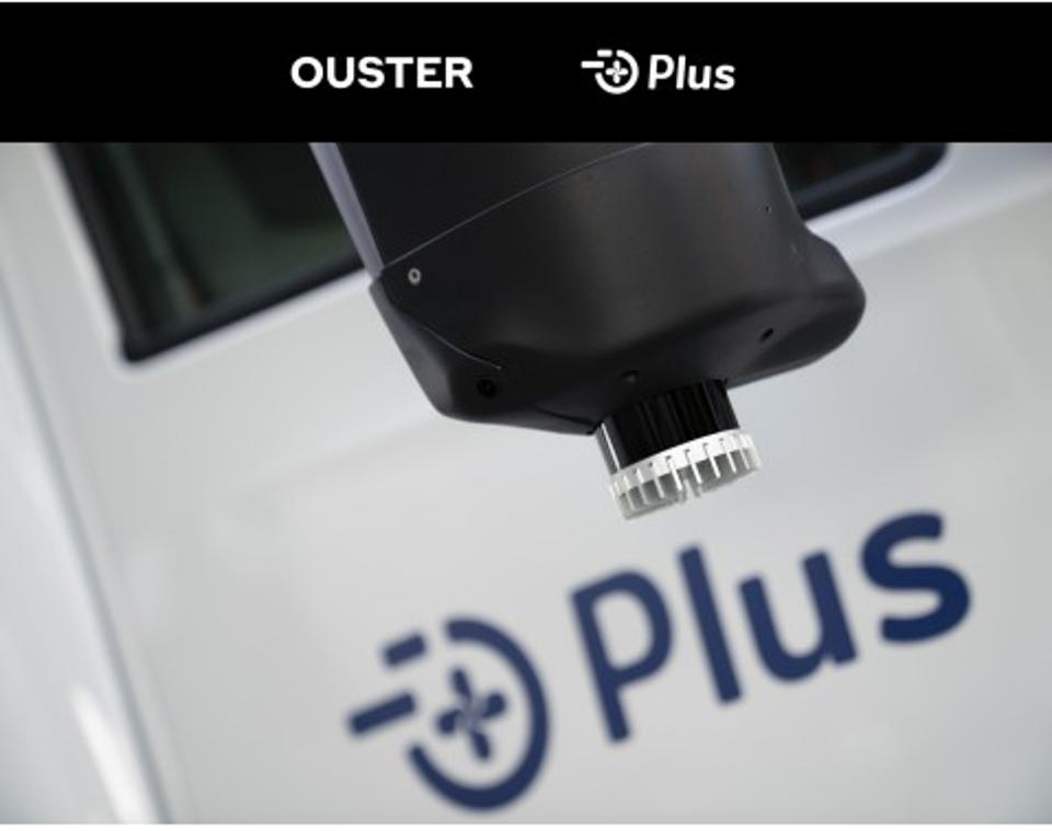 Ouster LiDAR on Plus Truck