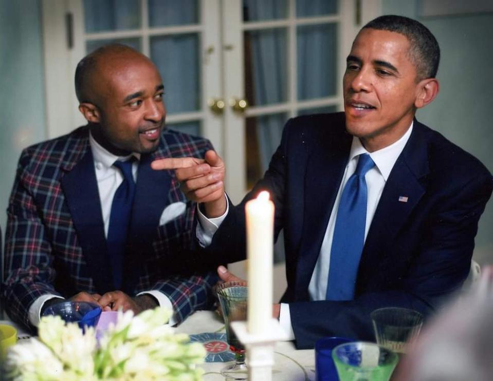 Mike Muse and President Barack Obama