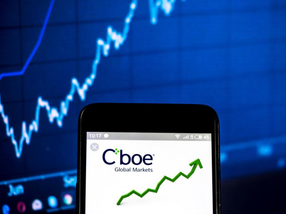 Cboe Global Markets company logo seen displayed on a smart