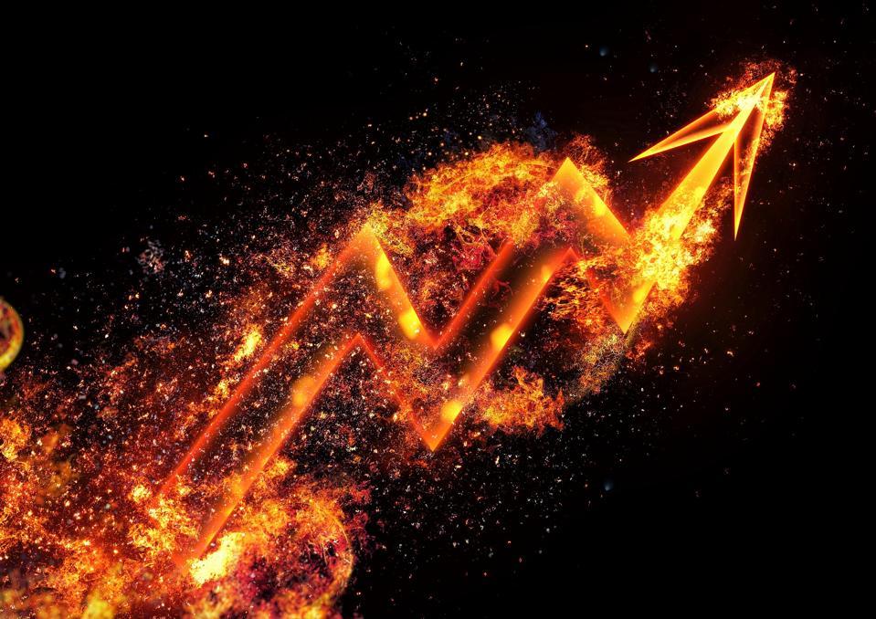 Burning flame arrow