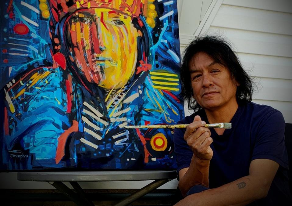″Rekindle″, Original Native Canadian Acrylic Painting by Joseph Sagaj