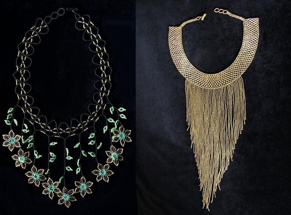 Mayan style beaded necklaces by Ricky Martin