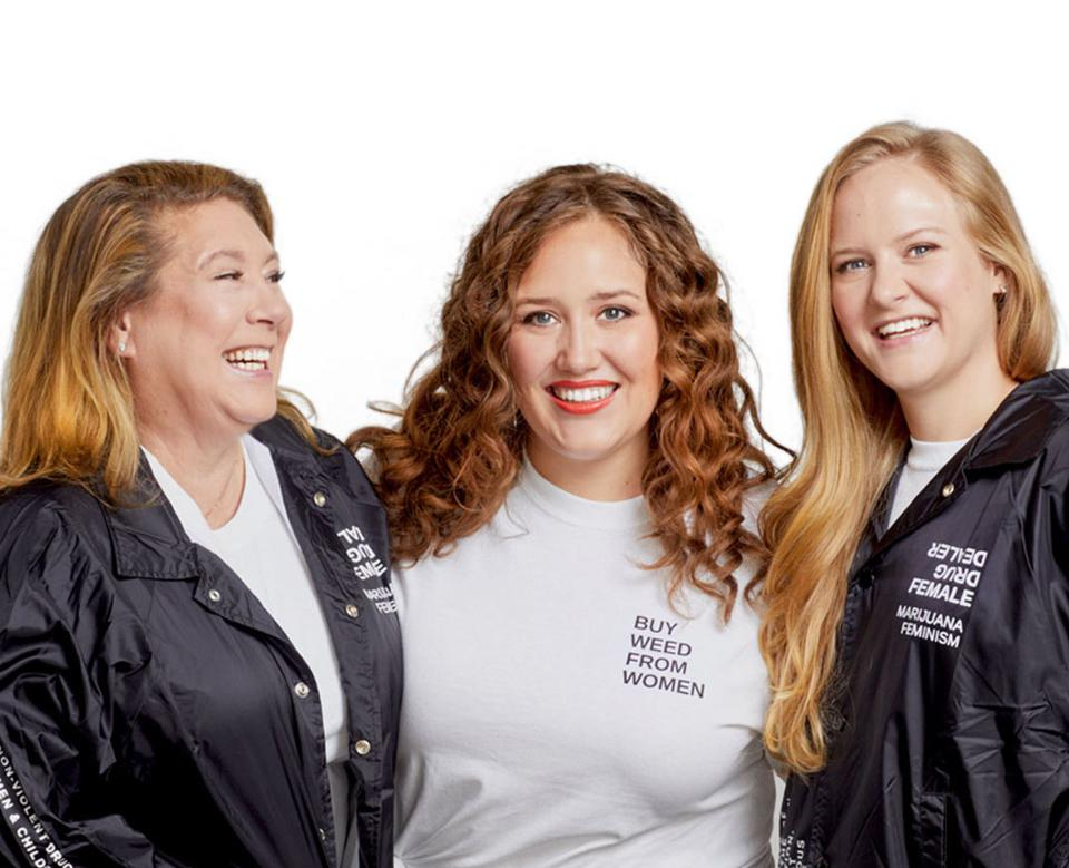 Pictured left to right: Amy Peckham, CEO, Keeley Peckham, chief horticultural officer and Hillary Peckham, chief operations officer