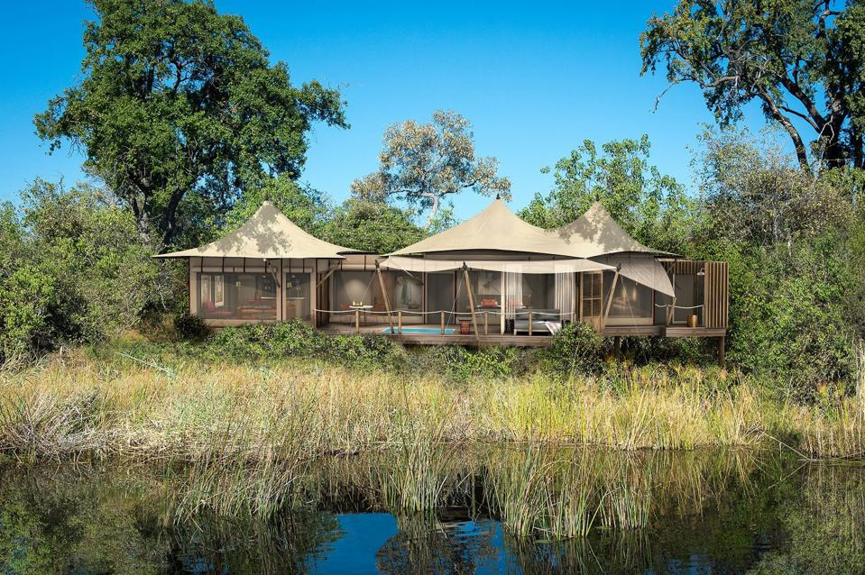 A preview of the new DumaTau Camp look from Wilderness Safaris.