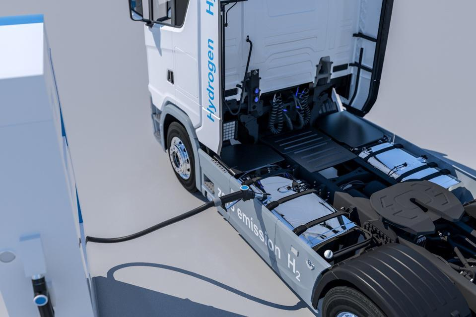 truck running on hydrogen