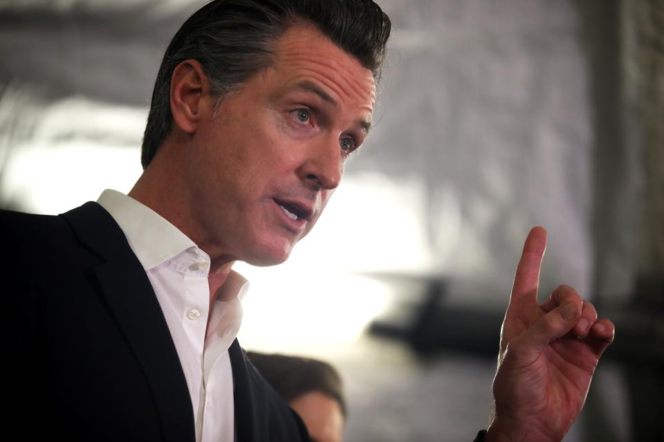 California Governor Gavin Newsom And Oakland Mayor Libby Schaaf Speak On State's Actions On Homelessness Crisis
