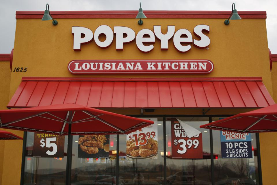 A Popeyes Chicken Restaurant As Burger King Owner To Buy Chain For 1.8 Billion
