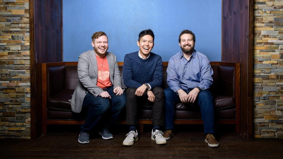 Redox cofounders James Lloyd (L), Niko Skievaski and Luke Bonney (R).
