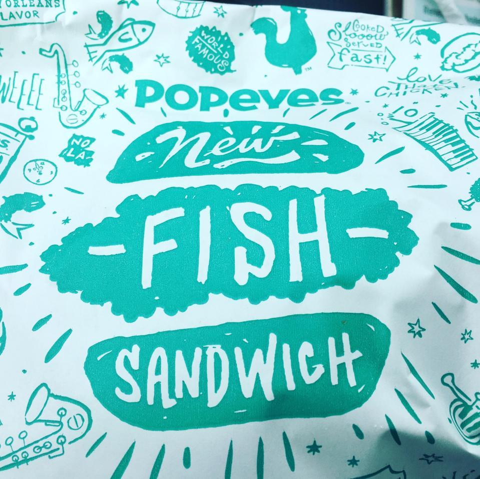 Fish sandwich bag