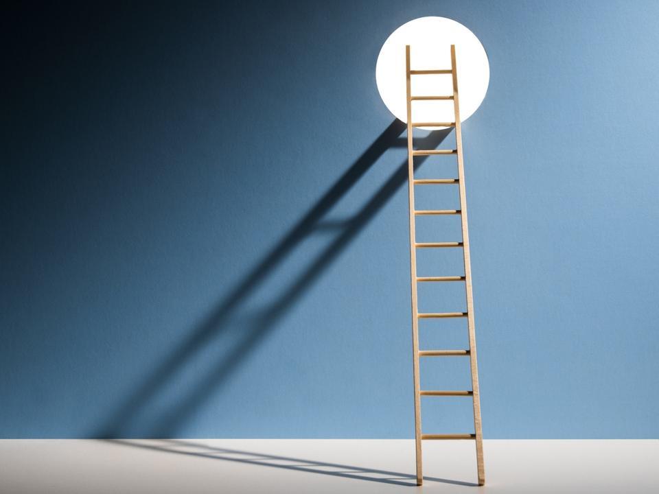 Ladder through hole in wall