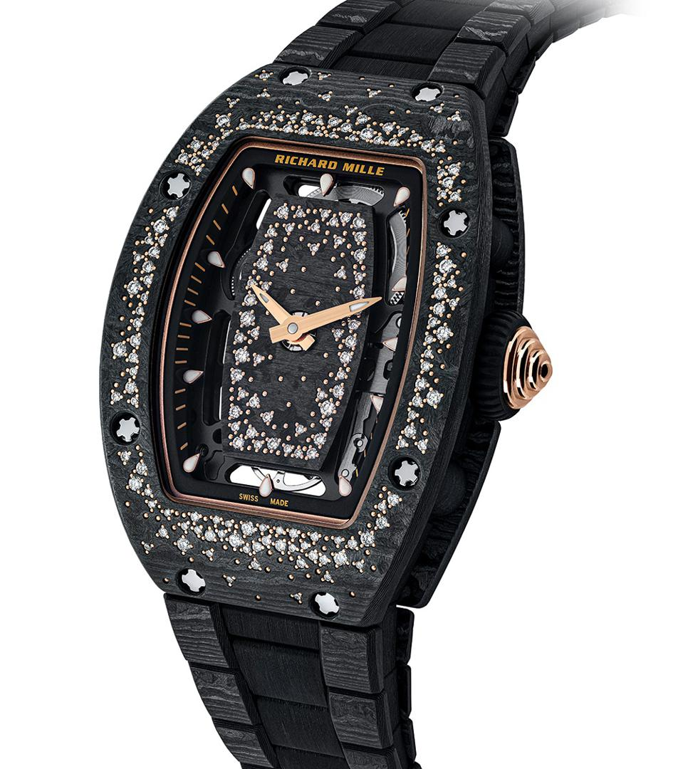The Richard Mille RM 07-01 Automatic Starry Night is set with 181 diamonds.