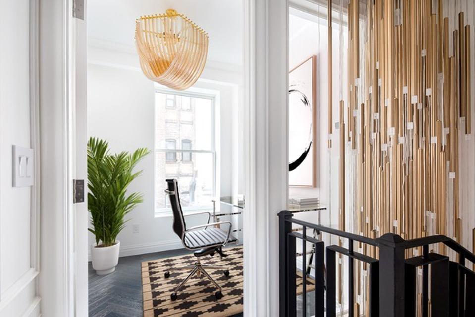 A stunning custom chandelier