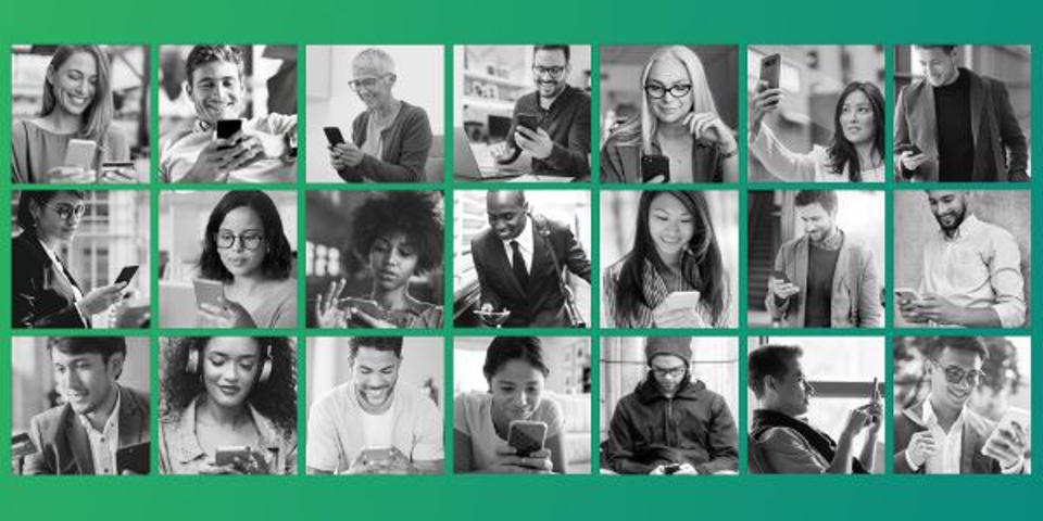 collage of young professionals