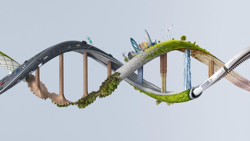 Innovative illustration of DNA structure