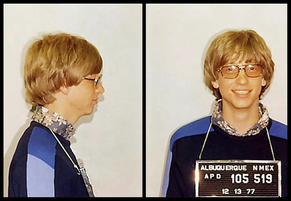 Bill Gates was arrested in 1977 for a traffic violation and a silhouette of this image was picked for the design of the diamond-encrusted top for the PC's cooler