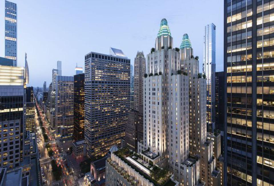 Rendering of soon to be built Waldorf Astoria Towers in New York