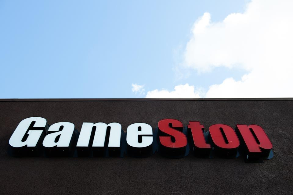 GameStop logo with blue sky represents wide open future