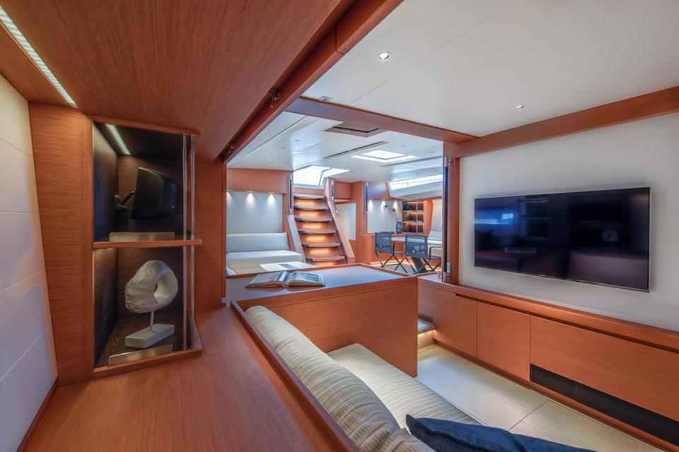 The proportions of the den off the main saloon are perfect.