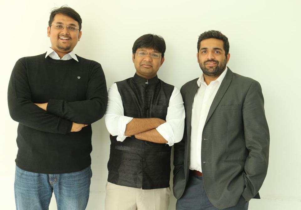 Photo of Innovaccer cofounders against a white wall.