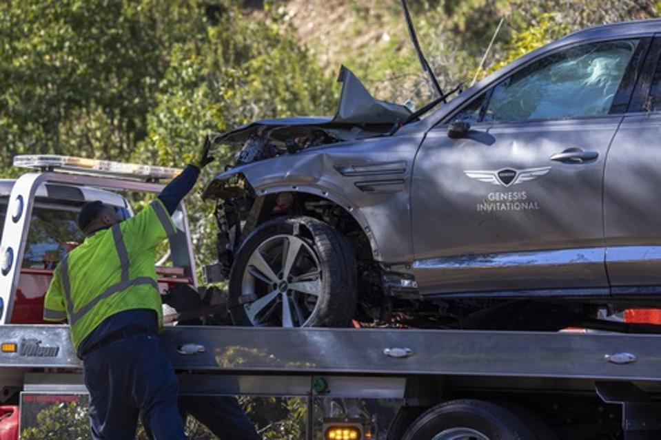 Tiger Woods Injured In Rollover Car Crash