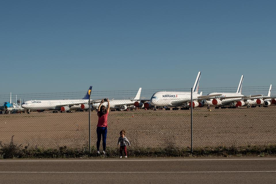 Planes in Spain park mainly at Teruel airport, as pandemic continues to hamper fleets