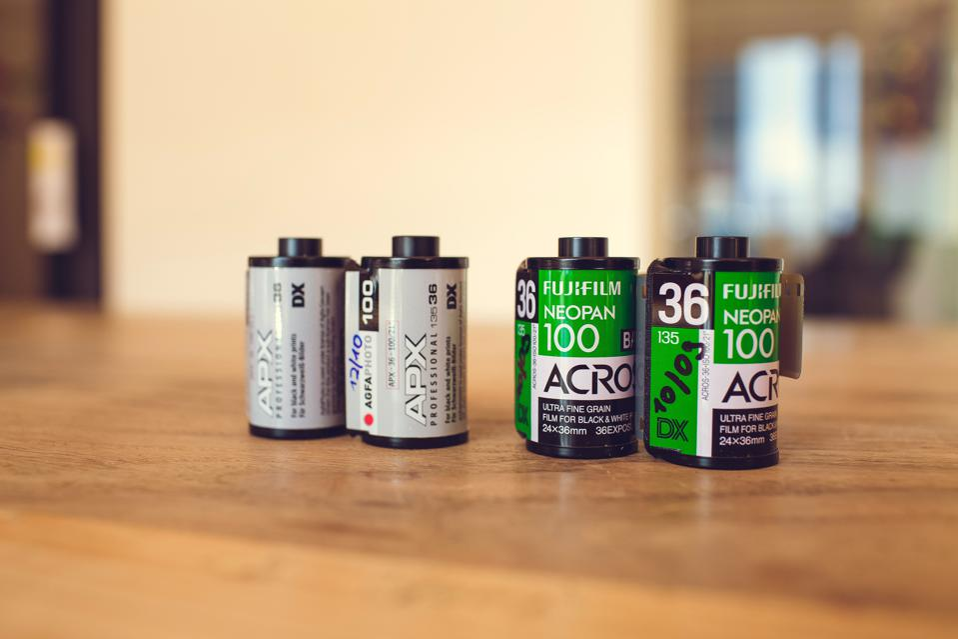 rolls of camera film
