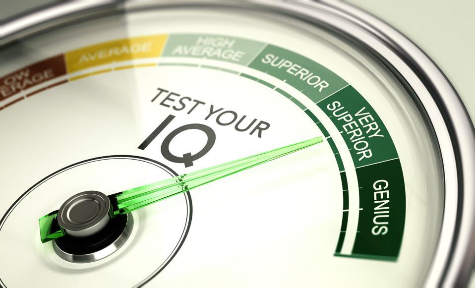 IQ test Result, Very Superior Intelligence Quotient.