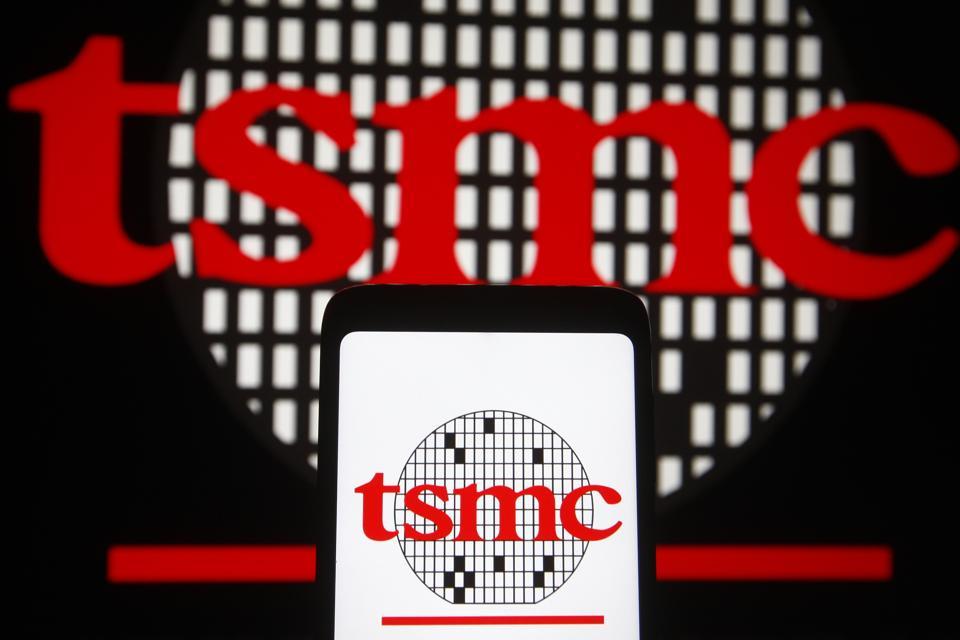 In this photo illustration, TSMC (Taiwan Semiconductor...