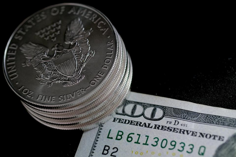 Silver American Eagle Bullion Coins And Banknote