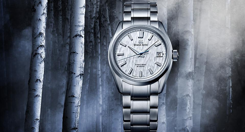 The new Grand Seiko White Birch Forest, with the automatic caliber 9SA5, also known as the Hi-Beat 36,000.