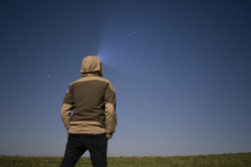 Lyrid Meteor Shower in Straina, Slovakia