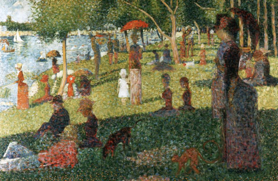 Study for Sunday Afternoon on the Island of La Grande Jatte by Georges Seurat