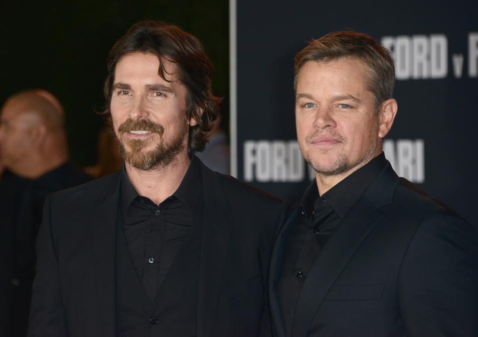 Christian Bale and Matt Damon upset Ferrari at Le Mans in 2019's Ford v Ferrari.