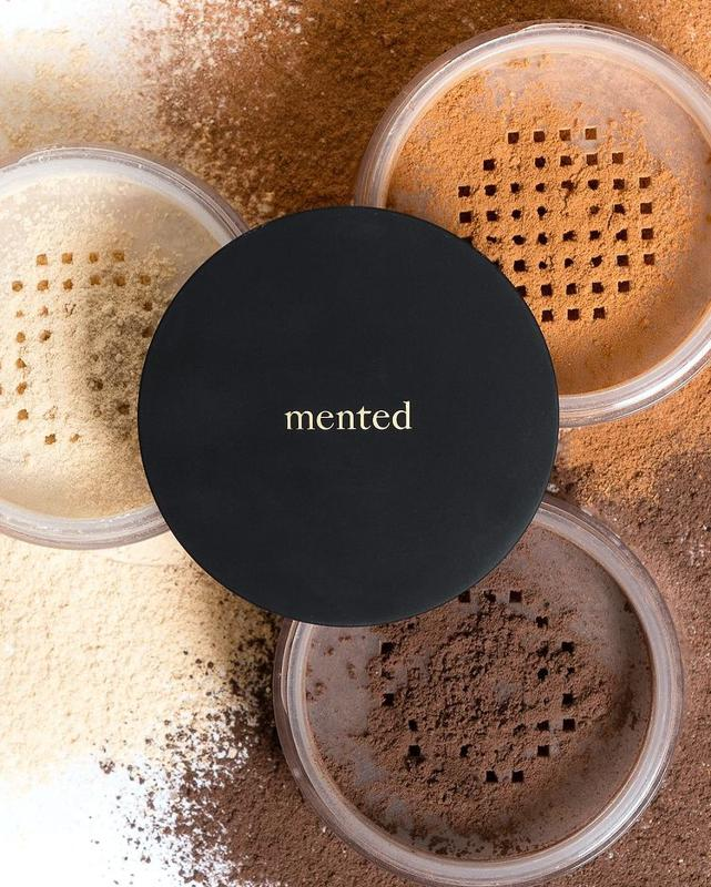 Mented Cosmetics pigmented powders in multiple shades.