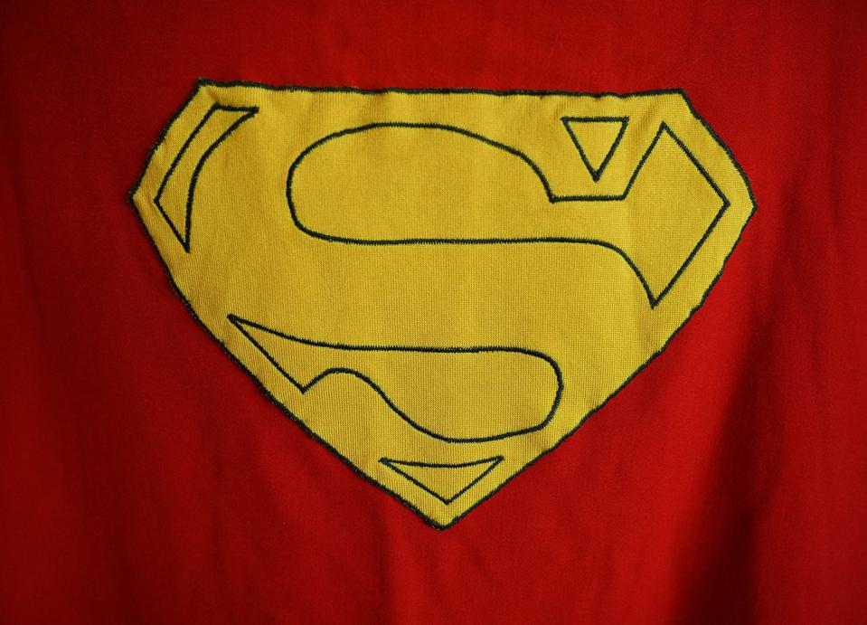 An original Superman cape worn by actor Christopher Reeve in the 1978 ″Superman″ film