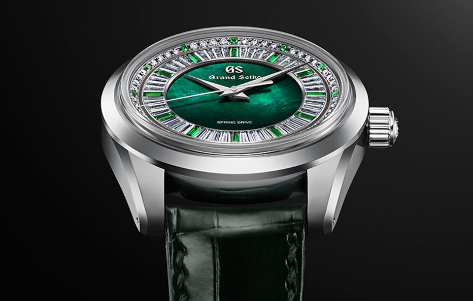 The Grand Seiko Masterpiece Spring Drive 8 Days Jewelry Watch.