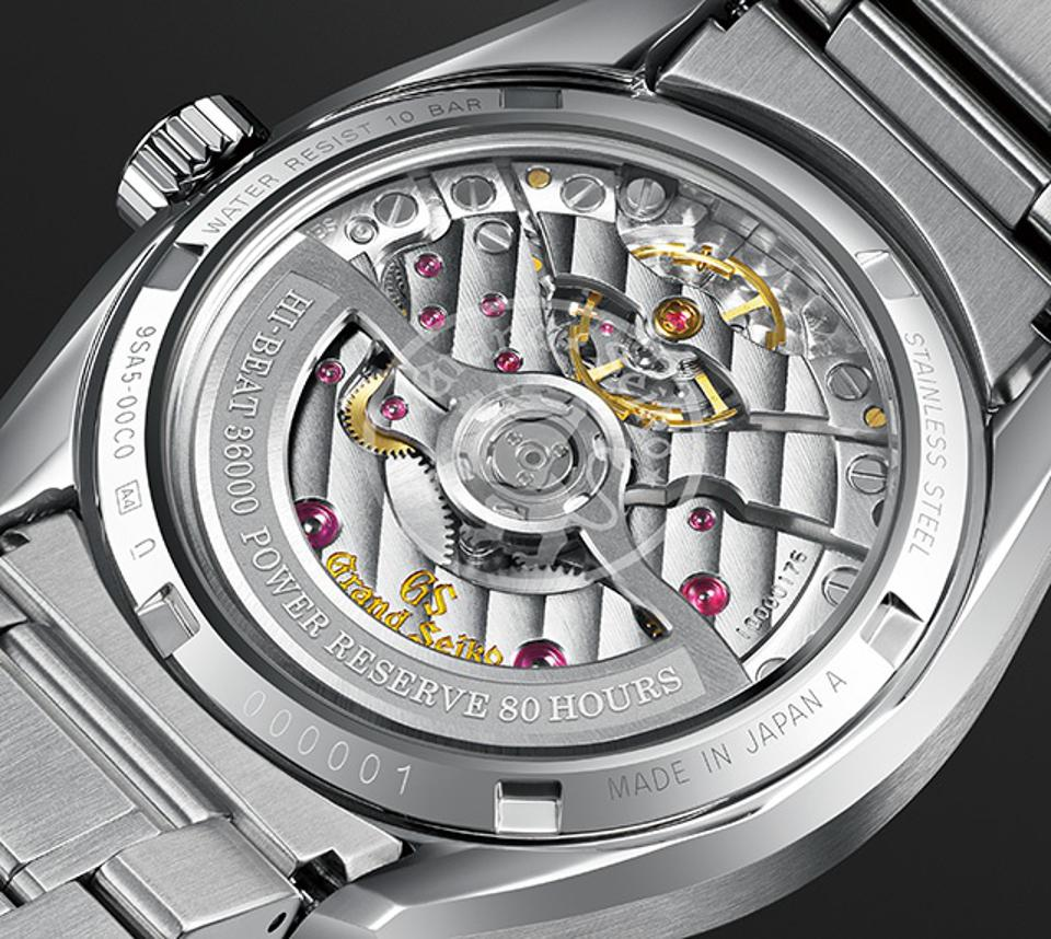 The Grand Seiko automatic caliber 9SA5, also known as the Hi-Beat 36,000.