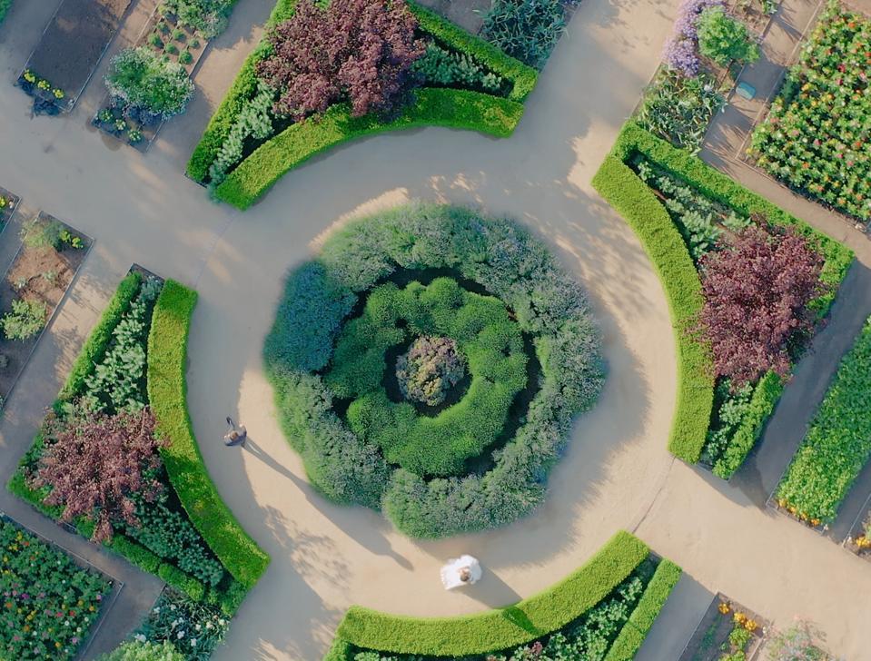 aerial photo of english gardens 5200 armour ranch rd santa ynez valley california