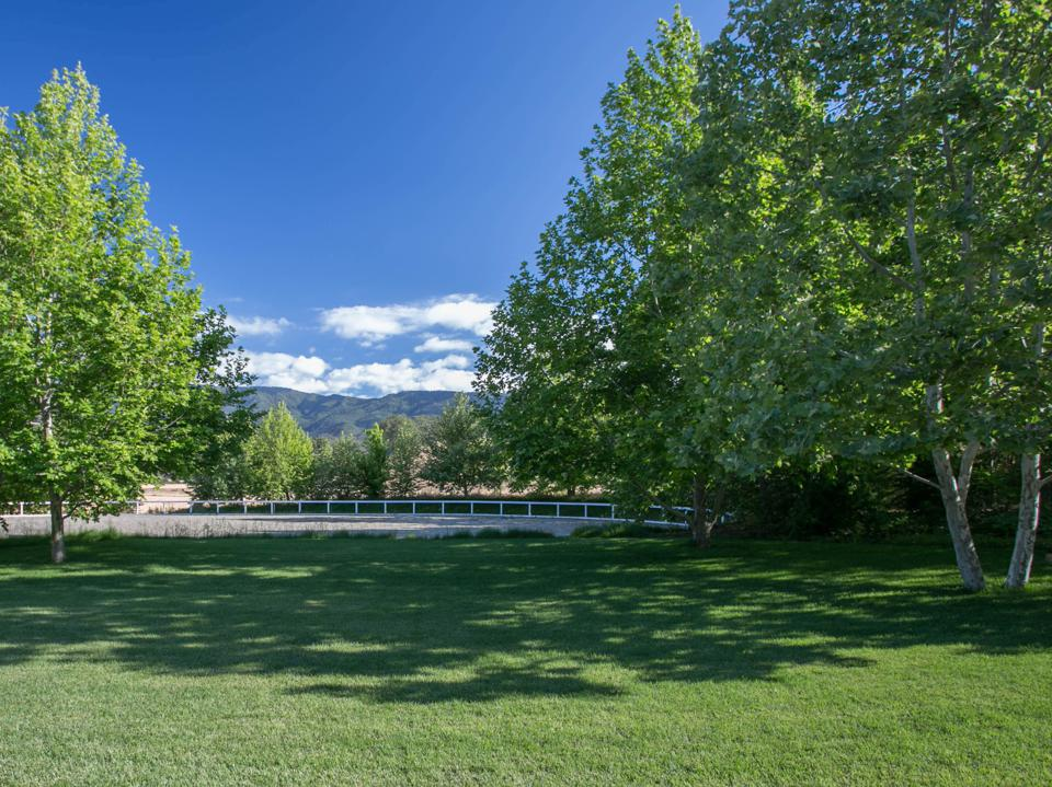 riding arena at seven oaks estate in santa ynez valley california wine country