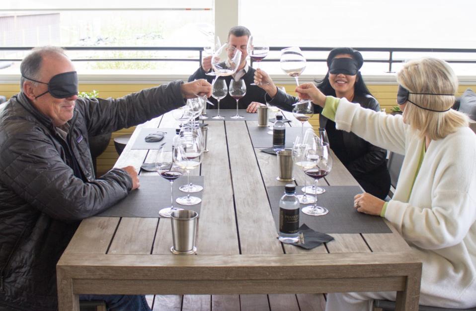 Tasting in the Dark at Frank Family Vineyards