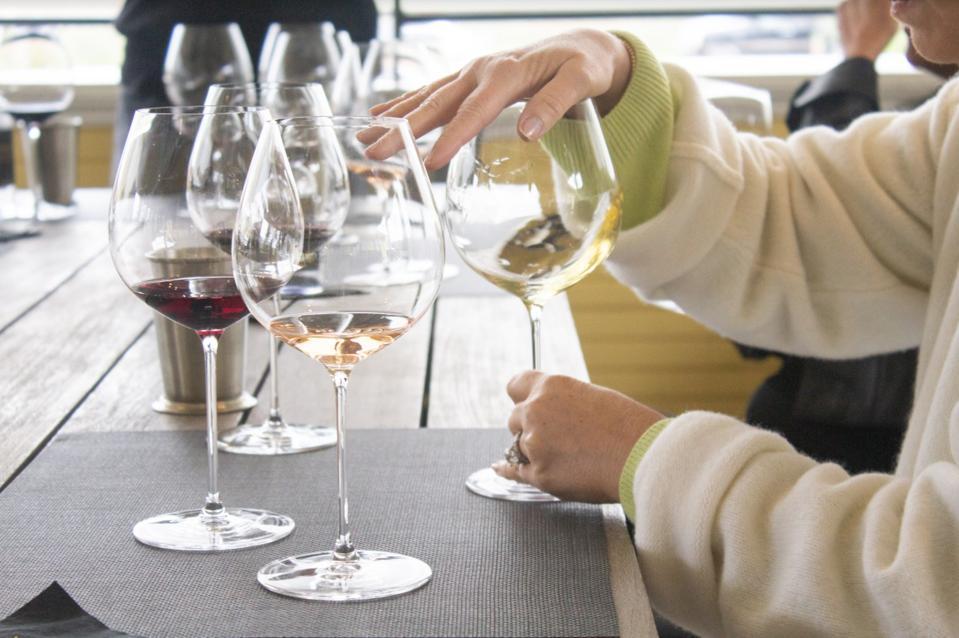 Blind tasting at Frank Family Vineyards