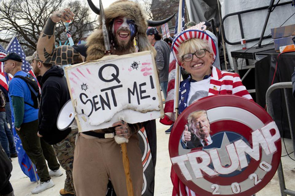 Trump supporters attend a Stop the Steal rally in Washington, D.C.