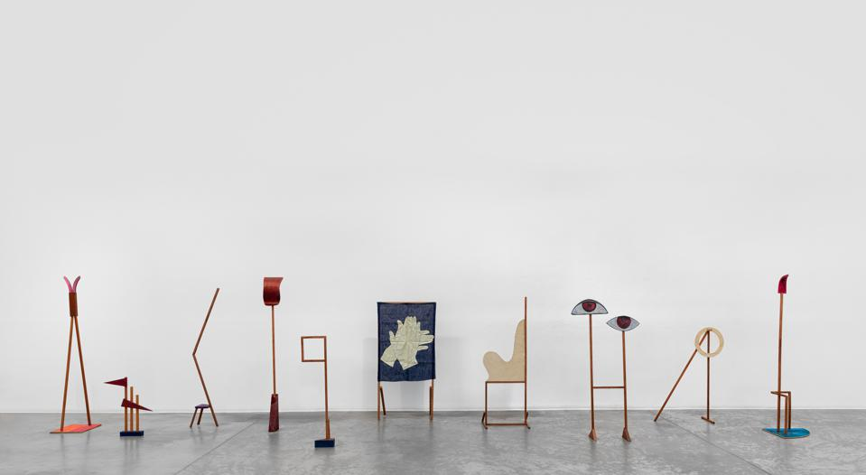 Installation view of works by Ana Mazzei at Green Art Gallery, Dubai, 2020