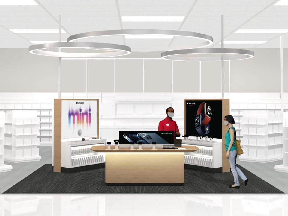 image of apple store at Target