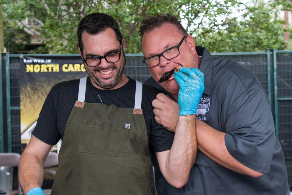Chefs Aaron Franklin and Chris Shepherd