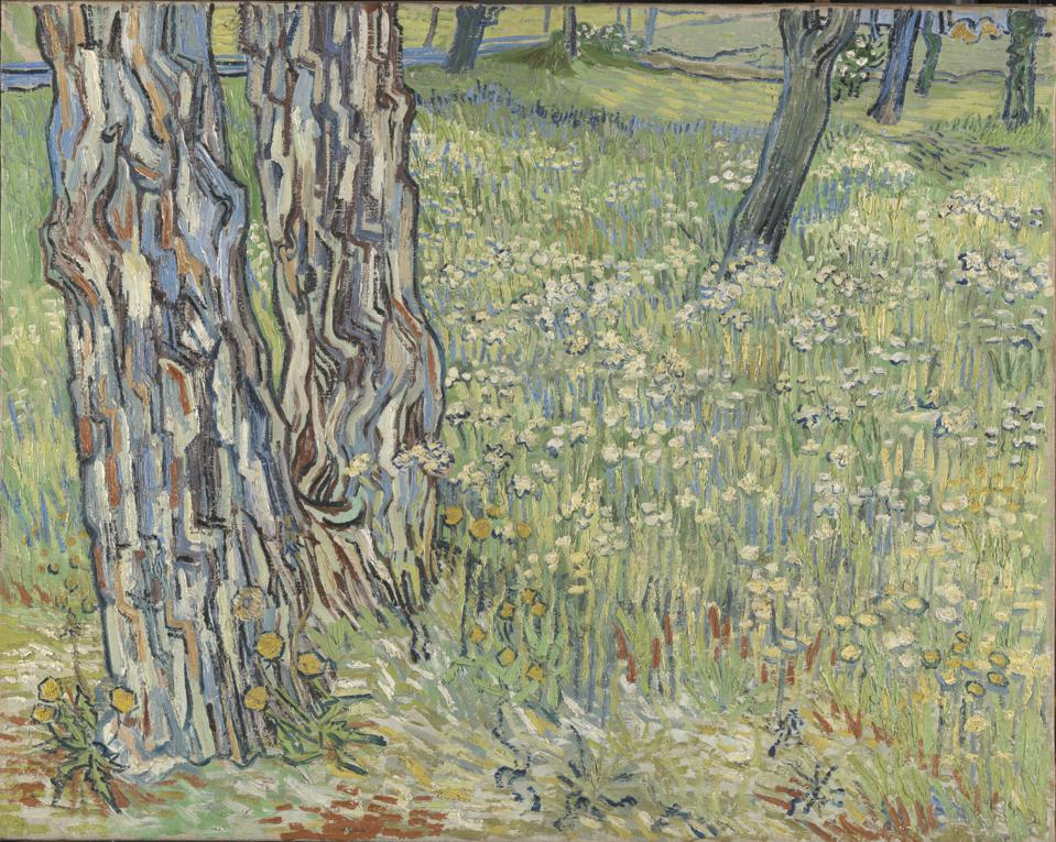 Vincent van Gogh, Tree Trunks in the Grass.