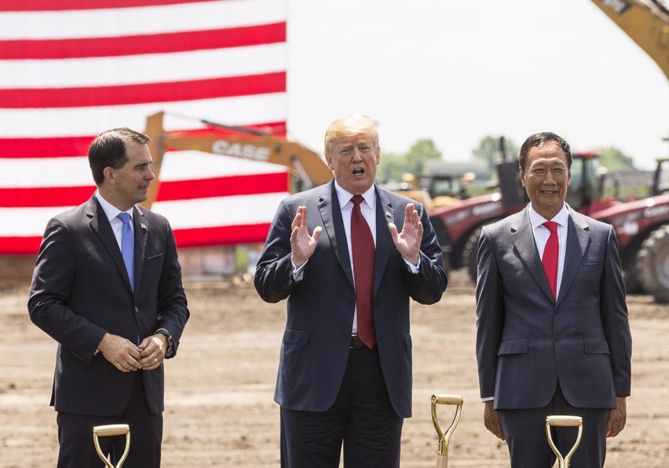 President Trump Attends Groundbreaking Of Foxconn Factory In Wisconsin